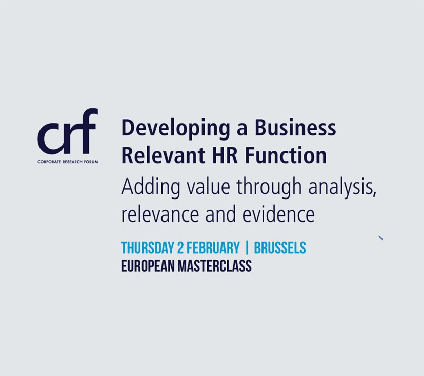 Masterclass: Developing a Business Relevant HR Function