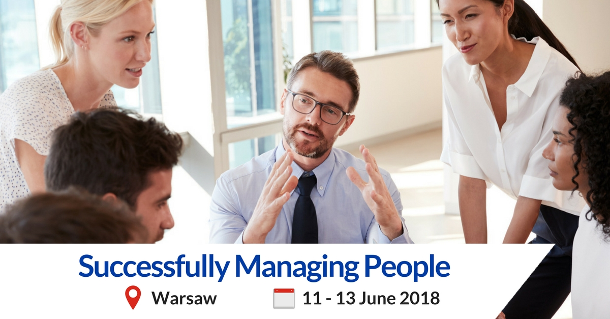 Successfully Managing People training Warsaw MCE