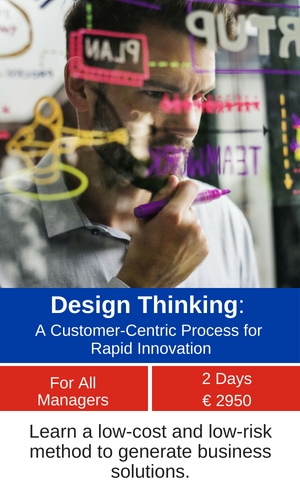 Design Thinking A Customer-Centric Process for Rapid Innovation training programme MCE