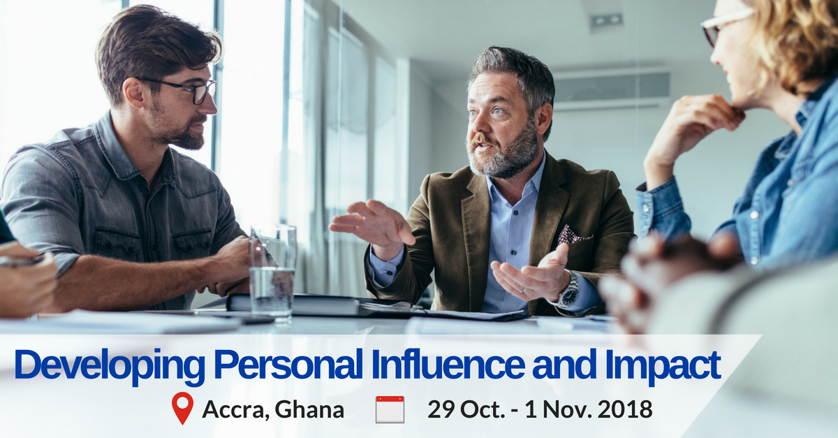 Developing Personal Influence and Impact training programme in Accra Ghana