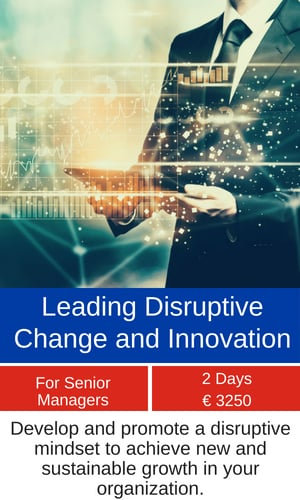 Leading Disruptive Change and Innovation training programme MCE
