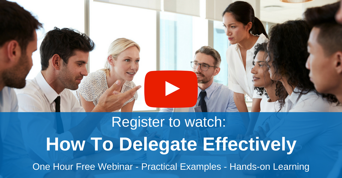 Watch now How To Delegate Effectively on demand free webinar