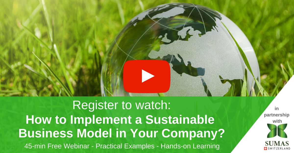 sustainable management webinar