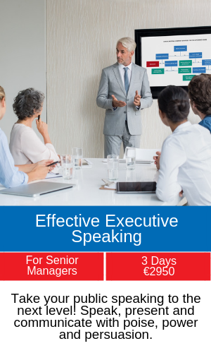 executive public speaking training programme