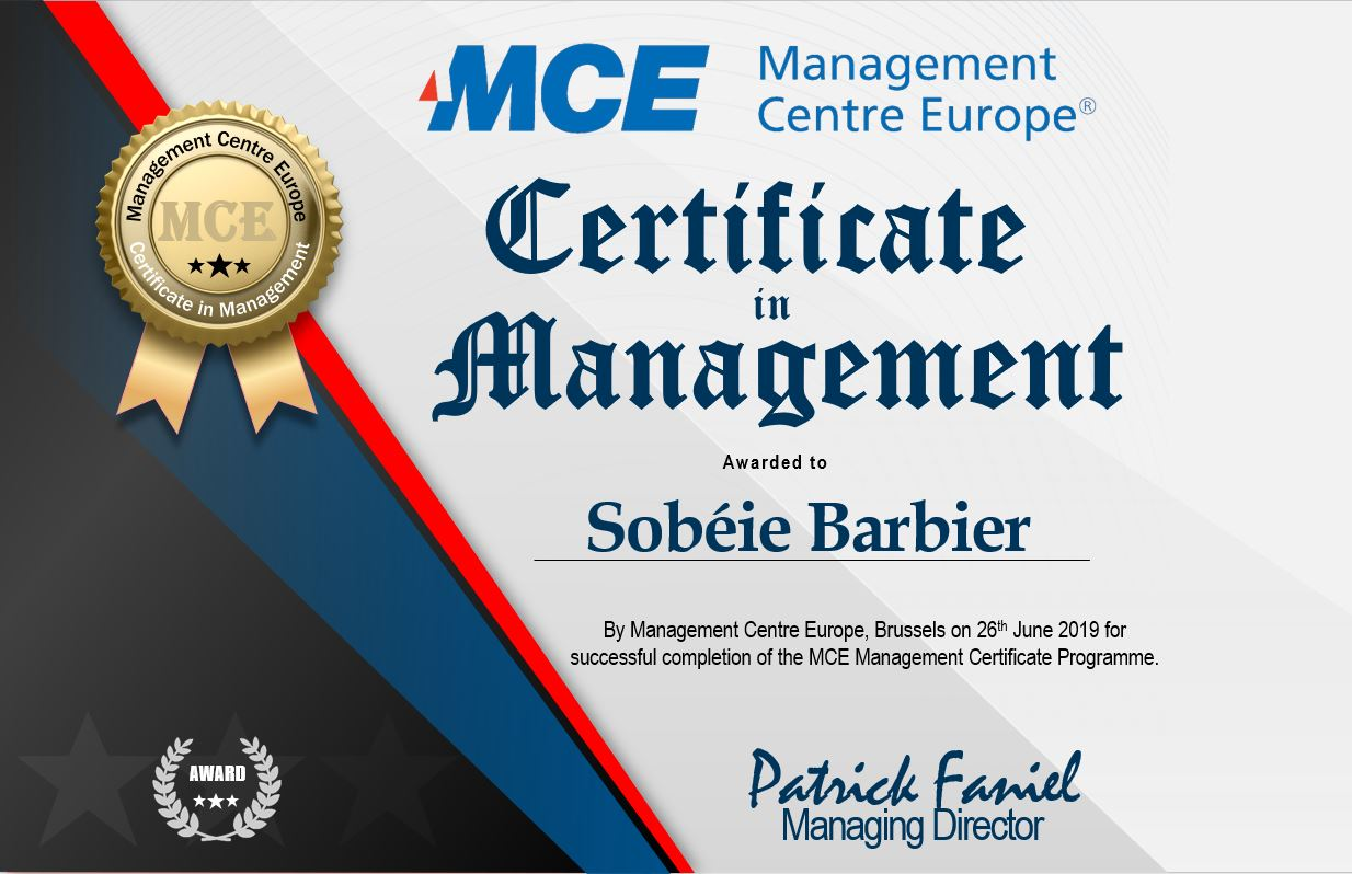 MCE Certificate in Management