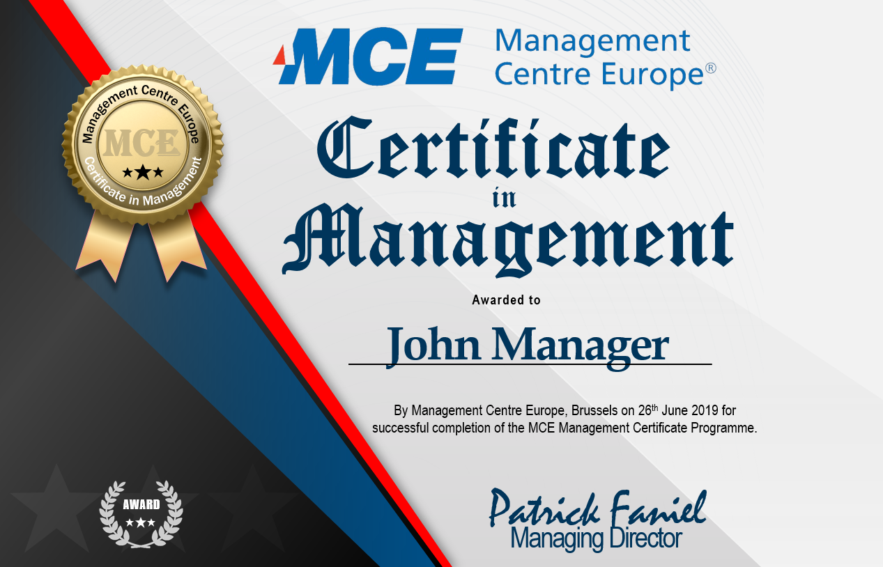 certificate in management