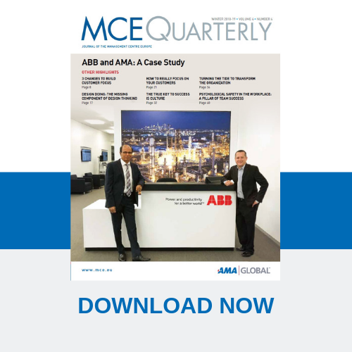 Download: MCE Quarterly – Journal of Management Centre Europe (MCE)