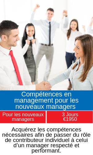 Compétences en management pour les nouveaux managers