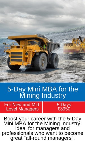 5-Day Mini MBA for the Mining Industry training programme