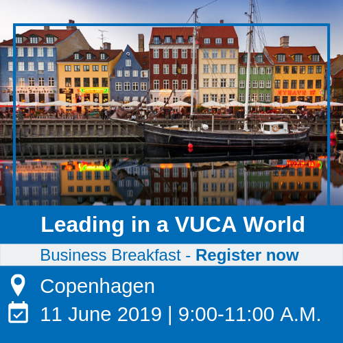 business breakfast event - leading in a vuca world in copenhagen