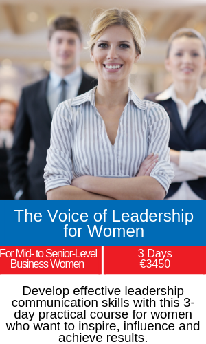 the voice of leadership for women training course
