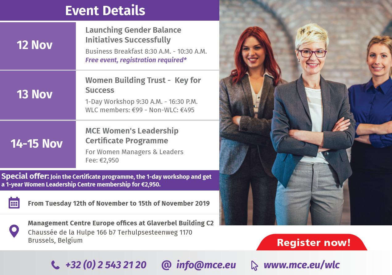 MCE Women in Business Celebration Week details