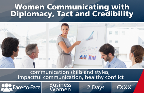 Women communicating with Diplomacy, Tact and CredibilityWomen communicating with Diplomacy, Tact and Credibility