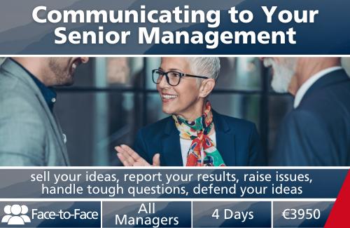 Communicating to Your Senior Management