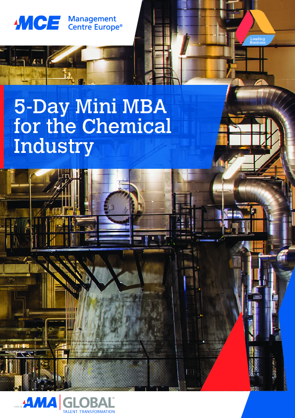 5-Day Mini MBA for the Chemical Industry | MCE Training Programmes